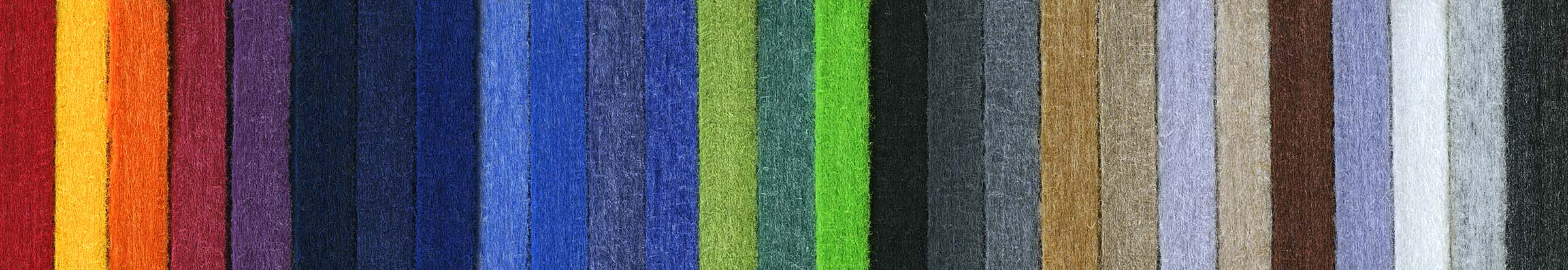 colour range of woven polyester acoustic panels