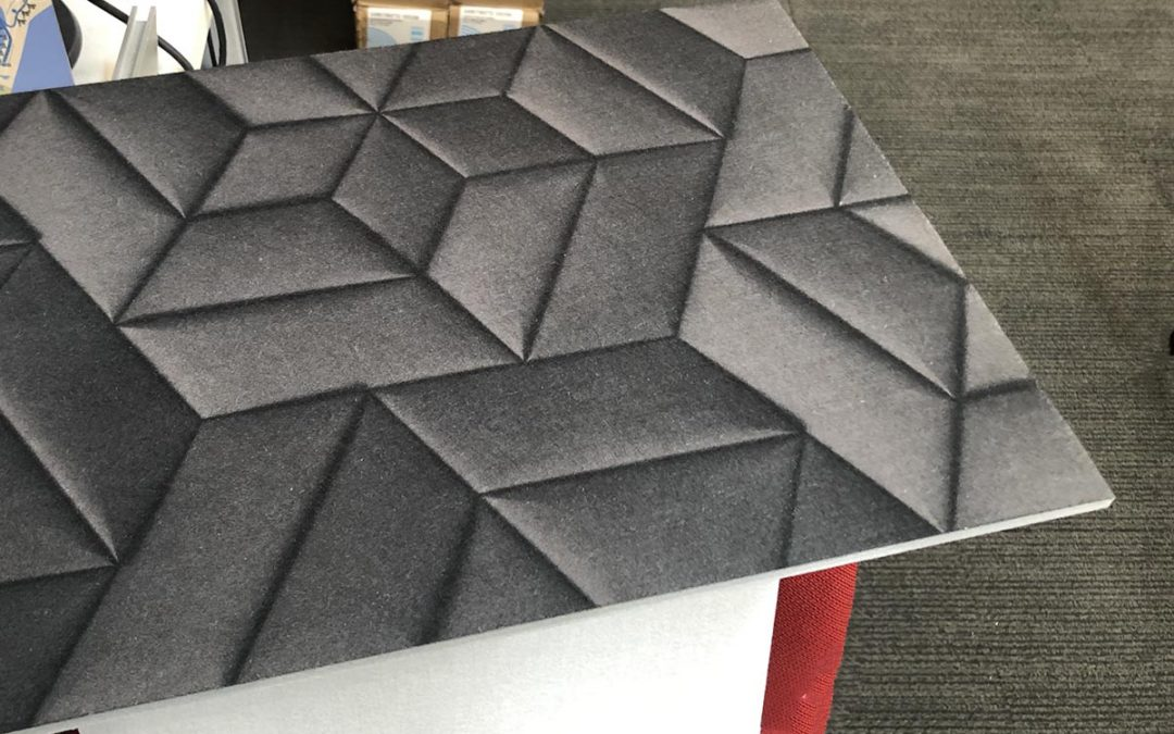 Dye-Sublimation print to acoustic panels