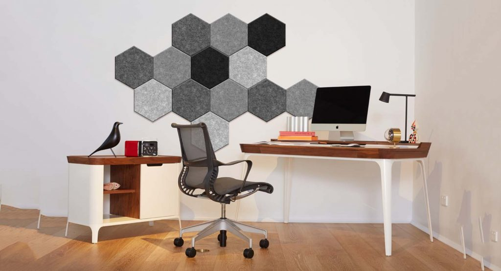 Decorative panels in home office
